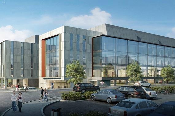 Architectural rendering of NextGen Precision Health Institute