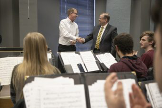Brian Silvey is awarded the 2019 Kemper Award for Teaching Excellence