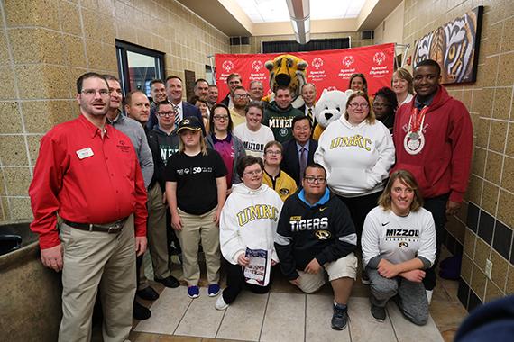Special Olympics Athletes gather to celebrate new partnership