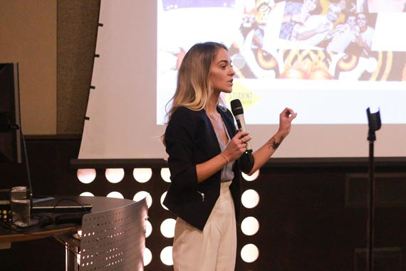 Emily Housey pitches her business idea at Entrepreneur Quest