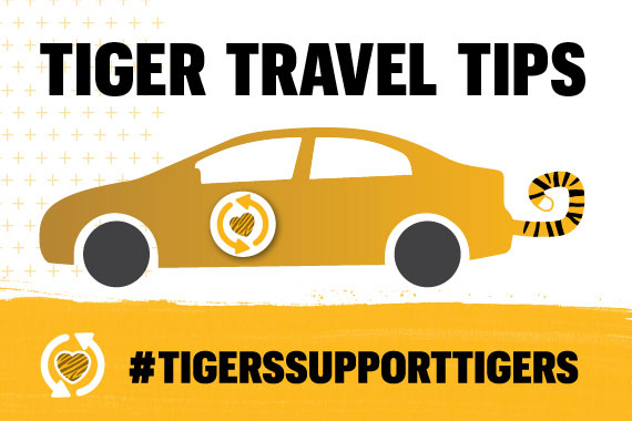 Tiger Travel Tips sign
