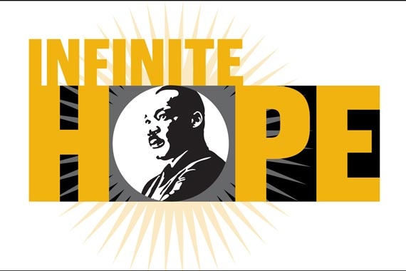 Infinite Hope Banner with MLK Image
