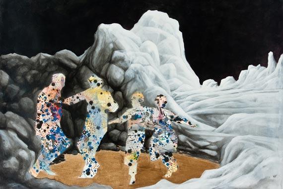 Mural of people dancing
