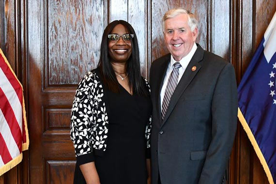 Robin Ransom and Mike Parson