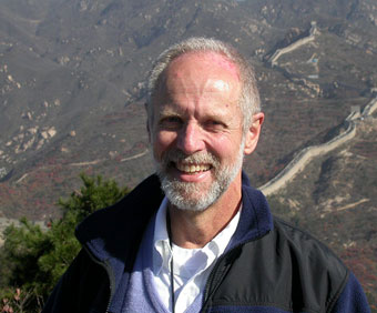 John Boyer with Great Wall of China in background